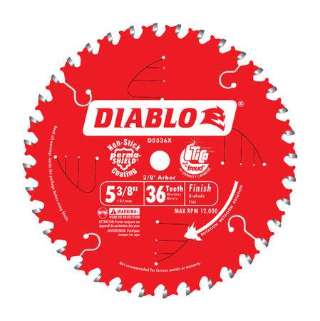 Freud Diablo 5-3/8 in. Dia. 36 teeth Carbide Tip Metal Circular Saw Blade For Cutting Wood
