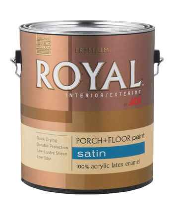 Ace Royal Latex Porch & Floor Paint 1 gal. Ultra White Satin