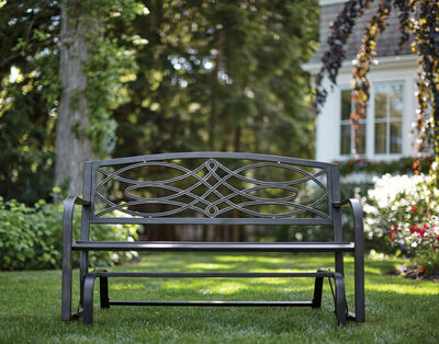 Living Accents Bench Glider Steel 34.06 in. H x 50.39 in. W