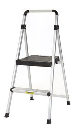 Cosco Lite Solutions 225 lb. Aluminum Folding Two Step Stool
