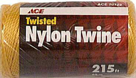 Ace 21 in. Dia. x 215 ft. L Twisted Nylon Twine Gold