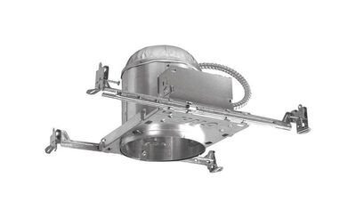 Halo 7 in. W Silver Silver Aluminum 6 in. Recessed Light Housing