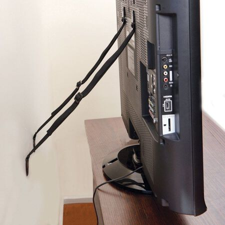 Dreambaby Black Nylon/Metal Flat Screen TV Saver 2 pc. 34 in. H x 1 in. W