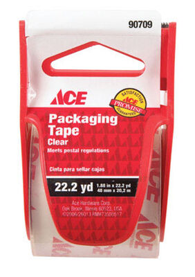 Ace 1.88 in. W x 22.2 yd. L Packaging Tape Clear