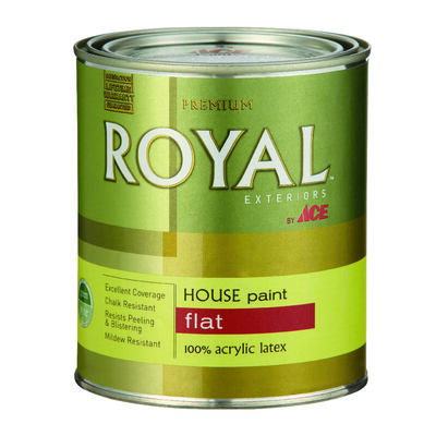 Ace Royal Acrylic Latex House Paint & Primer Flat 1 qt. High Hiding White