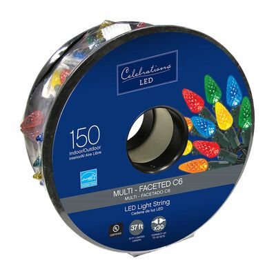 Celebrations LED C6 Light Set Multicolored 37.25 ft. 150 lights