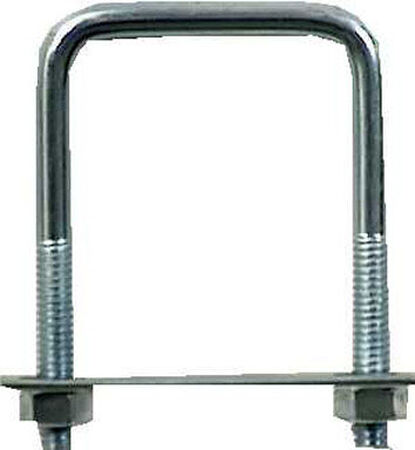Hampton 2 in. W x 3 in. L Zinc Plated Steel Square Bend U Bolt 10 pk