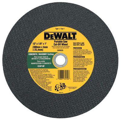 "12"" x 1/8"" x 1"" Concrete/Masonry Portable Saw Cut-Off Wheel"