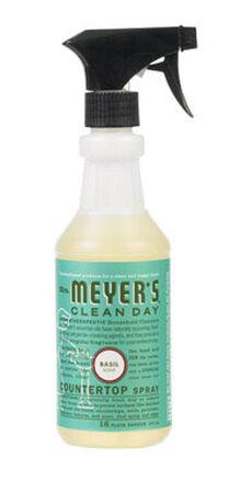Mrs. Meyer's Basil Multi-Surface Cleaner Spray 16 oz. Liquid For Tile Walls Porcelain Bath Fix