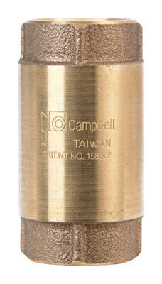Campbell 1 in. FIP X 1 in. FIP Red Brass Check Valve