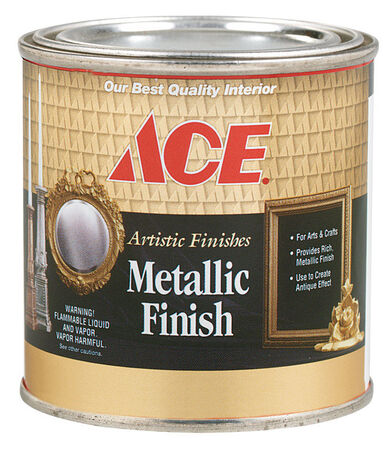 Ace Metallic Gold Plate Interior Craft Paint Indoor 1000 g/L 1/2 pt.