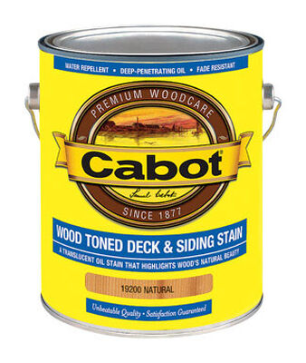 Cabot Wood Toned Transparent Oil-Based Deck and Siding Stain Natural 1 gal.