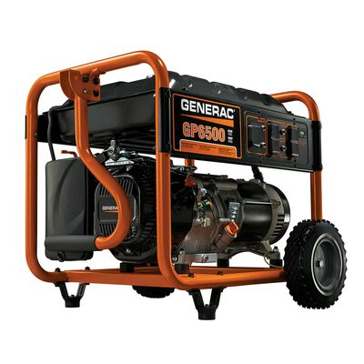 Generac 6500 watts Orange Portable Generator