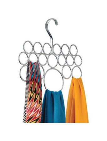 InterDesign 5 in. L x 11-1/2 in. H x 9-3/4 in. W Scarf Holder Silver
