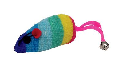 Boss For Cat Rainbow Mouse Catnip Toy