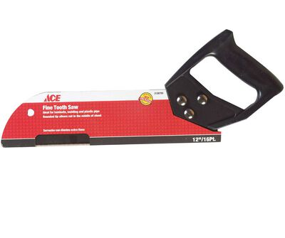 Ace 12 in. L x 16 TPI Steel Fine Cut Pipe Saw Plastic Handle