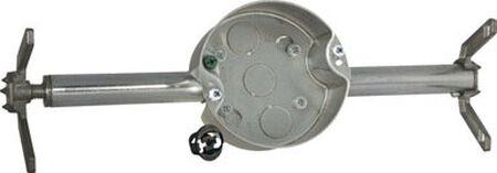 Raco 2-3/4 in. H Round 1 Gang Fan Box 1/2 in. Gray Steel