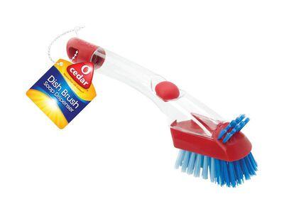 O-Cedar For Dishes Plastic Soap Dispenser Dish Brush