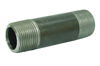 Ace 1 in. Dia. x 1 in. Dia. x 12 in. L Schedule 40 MPT To MPT Galvanized Steel Pipe Nipple
