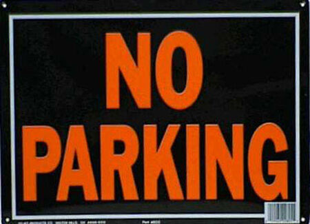 Hy-Ko English 10 in. H x 14 in. W Aluminum Sign No Parking