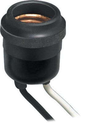 Leviton Outdoor Socket 600 watts 220 volts Black