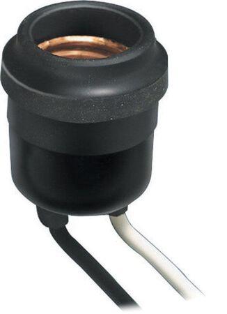 Leviton Outdoor Socket 600 watts 220 volts Black