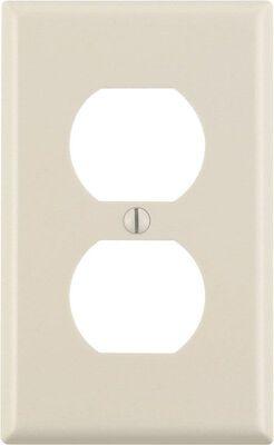 Leviton 1 gang Light Almond Nylon Duplex Outlet Wall Plate 1 pk