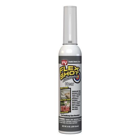 Flex Shot Clear Acrylic Rubber All Purpose Sealant 8 oz Can oz.