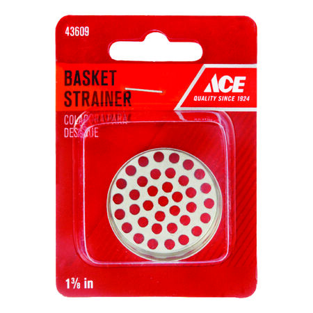 Ace 1-3/8 in. Dia. Replacement Strainer Basket Polished Chrome