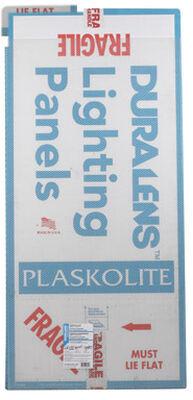 Plaskolite Duralens Acrylic Prismatic Lighting Panel 47-3/4 in. H x 23-3/4 in. W