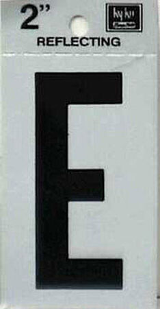 Hy-Ko Self-Adhesive Black Reflective Vinyl Letter E 2 in.