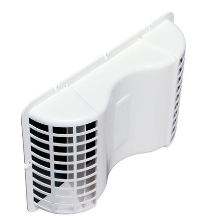 Deflect-O Jordan 4 in. Dia. x 10-1/8 ft. L Under Eave Dryer Vent White