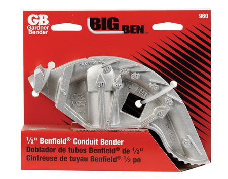 GB Big Ben 1/2 in. Aluminum Hand Bender Gray