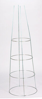 Glamos Gray Galvanized Steel Tomato Cage 54 in. H x 18 in. L x 18 in. W