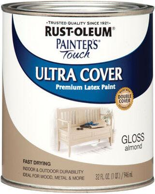Rust-Oleum Interior/Exterior Premium Latex Paint Almond Gloss 1 qt.