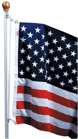 Valley Forge American Flag Kit 3 ft. H x 5 ft. W Pole Included