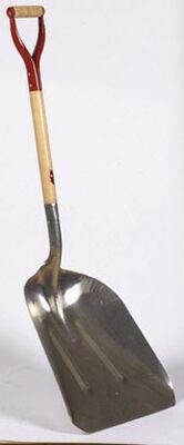 Ace 18-3/4 in. L x 14-1/4 in. W x 29 in. L Aluminum D-Handle Wood Scoop