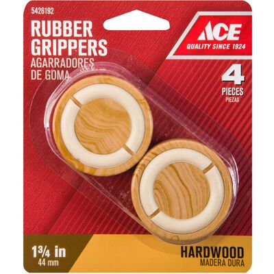 Ace Rubber Round Non-Slip Cup for Hardwood Floors Brown 1-3/4 in. W 4 pk