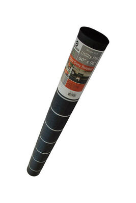 Flexgard Black Rubber Nonslip Utility Mat 96 in. L x 60 in. W