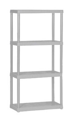 Maxit 48 in. H x 24 in. W x 12 in. D White Plastic Solid Plastic Shelving 220
