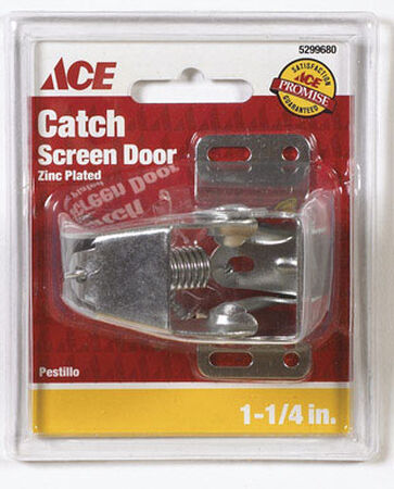 Ace Interior Steel Zinc Plated Screen Storm Door Catch