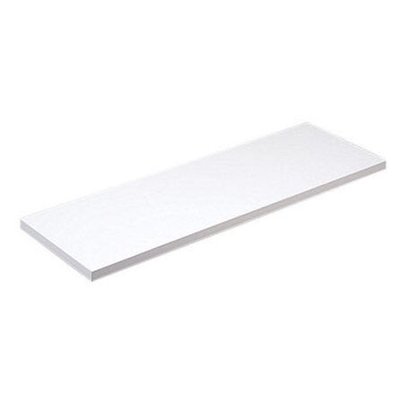 Knape & Vogt 10 in. H x 48 in. L x 10 in. W White Particleboard/Melatex Laminate Melatex Shelf