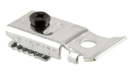 Prime-Line Brass Plated Bracket Bi-fold door top pivot Silver 1 pc.
