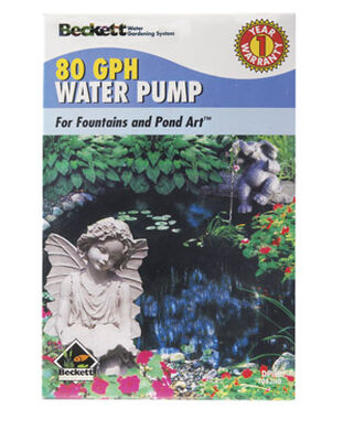 Beckett Plastic Pond and Fountain Pump 1 in. W x 1 in. L 80 gph