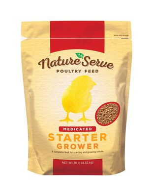 NatureServe Medicated Starter/Grower Feed Granules For Poultry 10 lb.