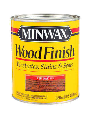 Minwax Wood Finish Transparent Oil-Based Wood Stain Red Oak 1 qt.
