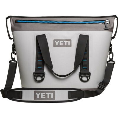 YETI Hopper Two 30 Soft Sided Cooler 24 can Fog Gray/Tahoe Blue