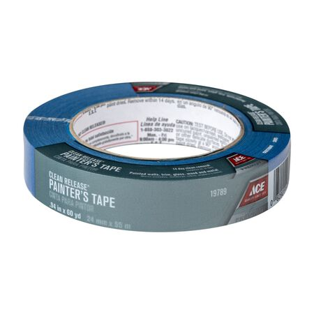 Ace 0.94 in. W x 60 yd. L General Purpose Painter's Tape Regular Strength Blue 1 pk