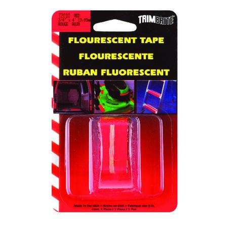 Trim Brite 3/4 in. W x 4 in. L Fluorescent Red Reflective Tape 1 pk