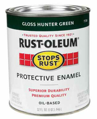 Rust-Oleum Indoor and Outdoor Oil Based Protective Enamel Hunter Green Gloss 1 qt.